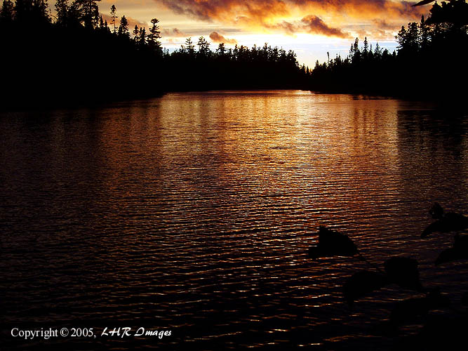 Sunset on Horseshoe Lake