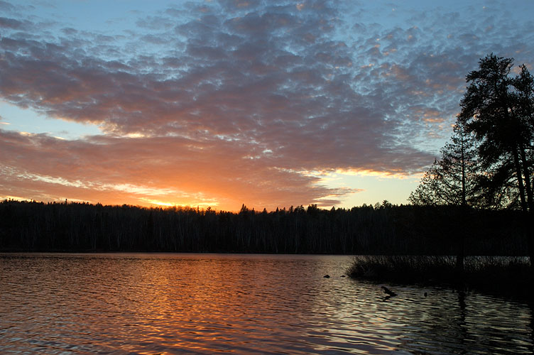 Sunset over Upper Pauness Lake