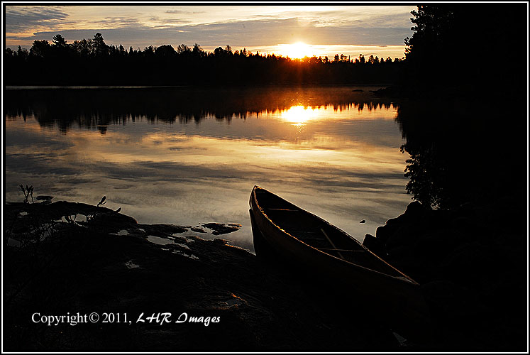 Canoe at Sunrise
